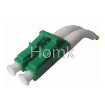 90 degree LC DX fiber connector