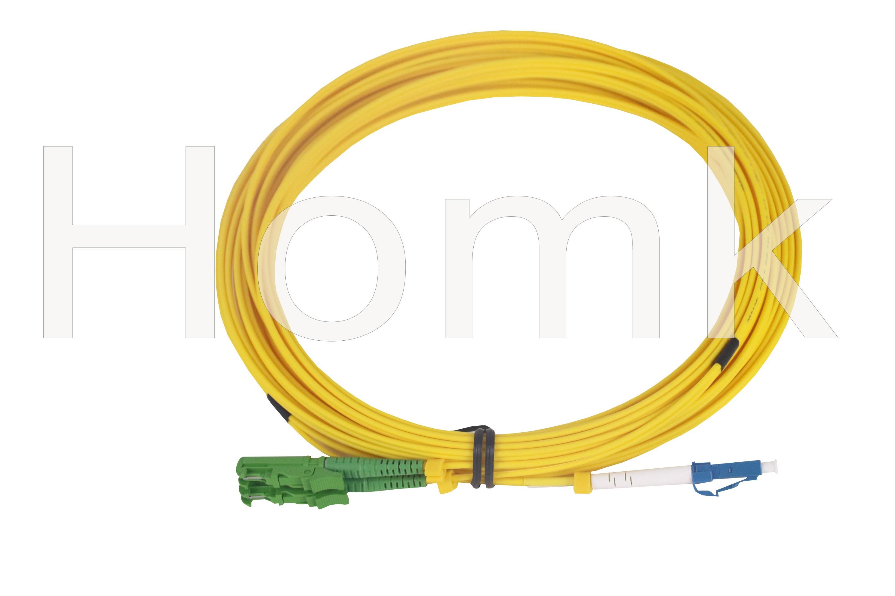 E2000 APC-LCPC SM DX Fiber Patch Cord 10M