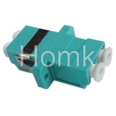 LC Duplex Fiber Adapter Aqua Blue OM3