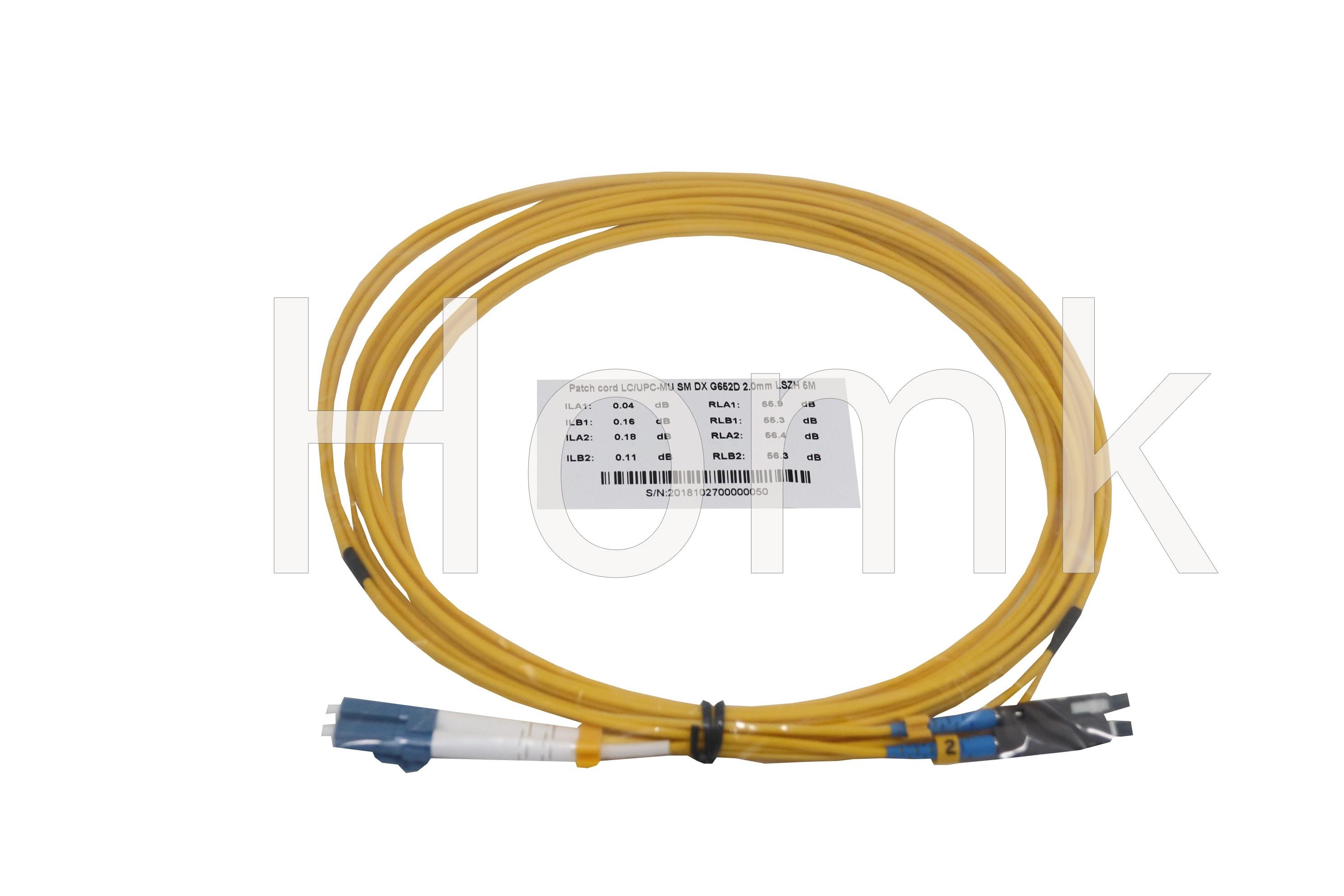 MU-LC SMDX Fiber Patch Cord