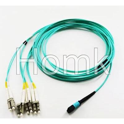 OM3 8F MPO-LC Fiber Optic Patch Cord