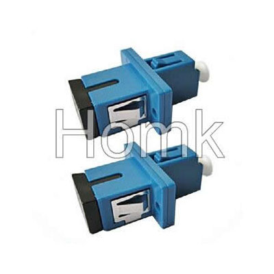 SC-LC hybrid fiber adapter