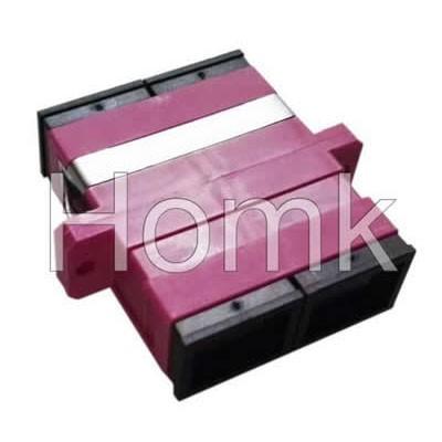 SC OM4 DX Fiber Optic Adapter Pink