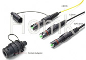 Fiber Optical OptiTap MINI-SC MINI-LC MINI-MPO connector compatible Corning type