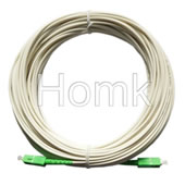 SC APC SM SX White Fiber Patch Cord
