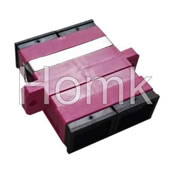 SC OM4 DX Fiber Optic Adapter Pink