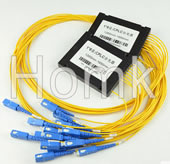 SCPC 1*8 Single Mode Fiber Optical Splitter