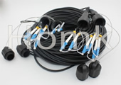 Waterproof PDLC 6 Core outdoor Fiber Patch Cord