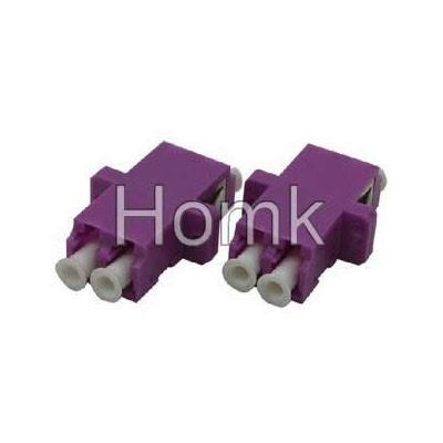 Duplex fiber LC OM4 adapter