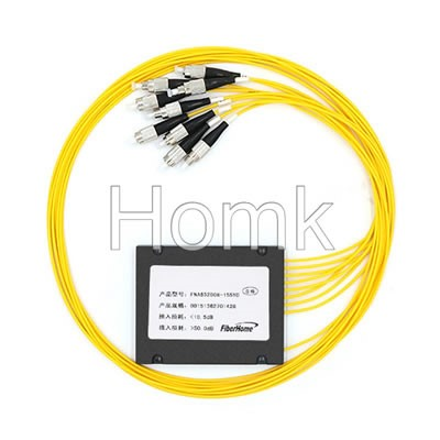 FCPC 1*8 Single mode Fiber Optical Splitter