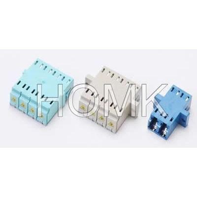 LC Quadruple Fiber Optic Adapter with cover