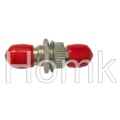 ST Red Cap Fiber Optic Adapter