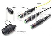 Fiber Optical OptiTap MINI-SC MINI-LC MINI-MPO connector compatible Corning type