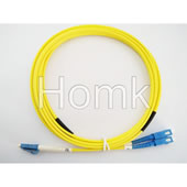 SC/UPC-LC/UPC SM Duplex 3.0mm LSZH Fiber Optic Patch  Cord