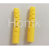 Yellow hollowed-out connector boot